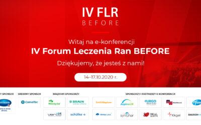 Dzisiaj rusza nasza wirtualna konferencja IV FLR BEFORE. Ponad 3500 zapisów!